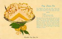 Enjoy a slice of Florida's Key Lime Pie! | Florida Memory  And check out A Culinary History of Florida by Joy Sheffield Harris https://www.historypress.net/catalogue/bookstore/books/A-Culinary-History-of-Florida/9781626196575.