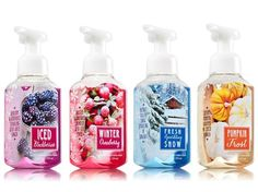 Winter is on the way they tell me and with it new Bath & Body Works Winter 2014 Hand Soaps! Iced Blackberries, Pumpkins in the Frost, Winter Cranberry, and