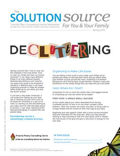 Decluttering - Spring 2015 Newsletter Time Out, Decluttering, Very Well, Your Family, Spring 2015, Counseling, Mindfulness, Life, Gap Year