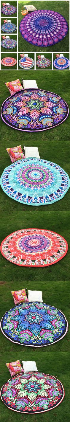Hippie Round Mandalas Tapestry Bikini Cover-Up Indian Wall Hanging Blanket Boho Beach Throw Towel Yoga Mat Home Room Decoration $13.99