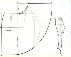 Waterfall ruffle skirt pattern. And many other patterns, especially necklines.  | followpics.co