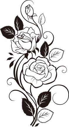 Rose and rosebuds wood burning flowers pinterest rose explore rose design drawing rose tattoo design and more mightylinksfo Image collections