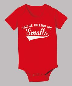 Emblazoned with a savvy reference, this precious pop-cultured piece is sure to incite chuckles and spread knowing smiles. Handy snaps offer quick and easy dressing for astute cuties. Love the sandlot Baby Boys, Baby G, Baby Kind, Our Baby, King Baby, Little Doll, Little Babies, Cute Babies, No Crying In Baseball