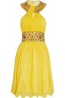Opulence England Embellished chiffon dress | THE OUTNET