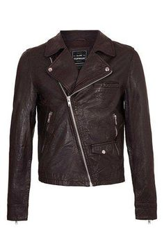 gorgeous deep brown leather jacket.