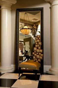 - I have a mirror like this.  Nice idea. The Designer Behind the Luxe Keeping Up With the Kardashians Home