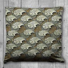 Rolling Wave Design Cushion