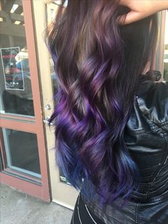 Purple and blue balayage Mermaid hair
