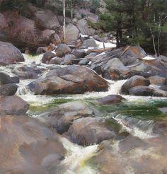Mark Boedges (American) ~ Mountain Cascade