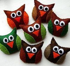 I love those owls, would make a sweet little brooch
