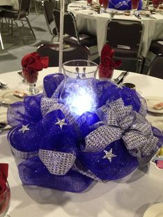 centerpieces for police annual banquet - Google Search