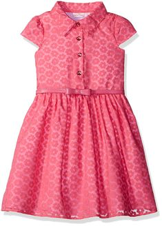 online shopping for Youngland Little Girls' Floral Button Front Shirt Dress Belt Detail from top store. See new offer for Youngland Little Girls' Floral Button Front Shirt Dress Belt Detail Maxi Dress With Sleeves, Belted Dress, Short Sleeve Dresses, Shirt Dress, Girls Casual Dresses, Girls Dress Up, Baby Dresses, Shirts For Girls, Girl Outfits