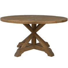 The Opio Reclaimed Wood 60 Inch Round Dining Table Farmhouse Draws Eye With A Starburst Parquetry Top And Compelling