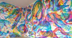 Des murs stupéfiants qui se métamorphosent en fonction de la lumière