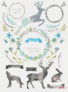 Woodlands Watercolor megapack - Illustrations - 3