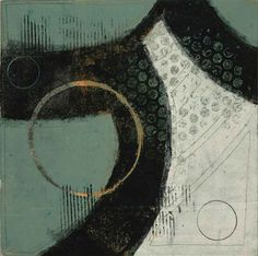 "Swept Away, by Anne Moore, monotype, 10""X 10"""