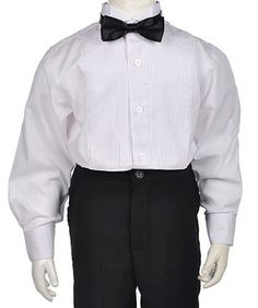 f6004b4f3eb0 American Exchange Little Boys  Toddler Tuxedo Shirt Set - white