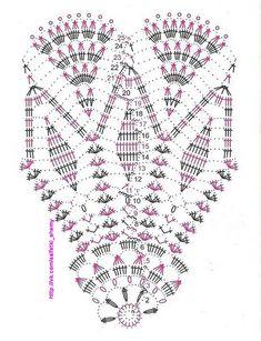 Knitted napkins and small things for the home Crochet Doily Diagram, Crochet Mandala, Crochet Chart, Crochet Stitches, Crochet Potholders, Crochet Doilies, Crochet Lace, Doily Patterns, Crochet Patterns