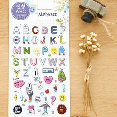 Aliexpress.com : Buy Cute Rabbit And Letters 3D Cartoon Decorative Sticker Diary Album Label Sticker DIY Scrapbooking Stationery Stickers from Reliable sticker motorcycle suppliers on House of Novelty