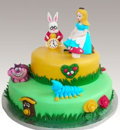 Alice in wonderland cake. Simple, and could get figurines instead of sculpting them to save time.