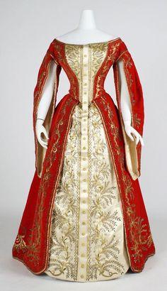 Court ensemble ca. 1900 via The Costume Institute of the Metropolitan Museum of Art
