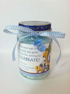 Baby Food Jar Bath Salt Favor by PamperPastriez on Etsy, $4.25