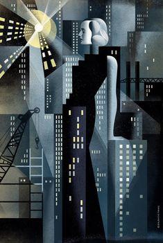 Atlas Shrugged - New York, an art print by Anna and Elena Balbusso Twins - INPRNT Atlas Shrugged Book, Bauhaus, Italian Futurism, Art Deco Artwork, Futurism Art, Russian Constructivism, Art With Meaning, Ayn Rand, Communication Art