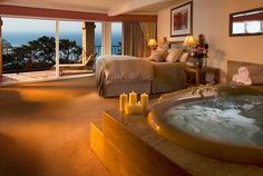 Tickled Pink Inn Carmel,CA. Accommodations - Reserve a spa tub room for the ultimate pampering.