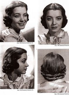 1930s hairstyles 3 by whatimeantosay, via Flickr