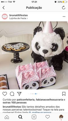 Luana Panda Birthday Party, Panda Party, Birthday Bash, Birthday Invitations, Girl Birthday, Birthday Parties, Panda Baby Showers, Panda Love, Panda Bear