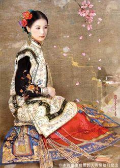 by Der Jen - ✯ http://www.pinterest.com/PinFantasy/arte-~-la-mujer-en-el-arte-chino-women-in-chinese-/