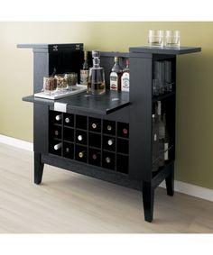 Parker Spirits Ebony Cabinet | Crate and Barrel
