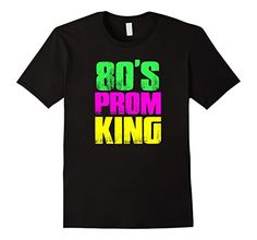 Men's Men's 80's Prom King Eighties Neon Party Shirt Costume 3XL Black