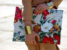 floral clutch-metal cuffs