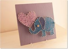 String Art pretty Elephant. We'll I just found a MUST do project!!!!