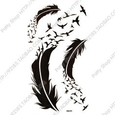 Not for a tattoo but because the design might look awesome on a kimono.  ((taken from http://www.aliexpress.com/item/Free-shipping-min-order-is-15-38-waterproof-tattoo-stickers-feather-hm574/1017919898.html))