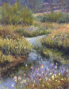 A Soft, Quiet Flow by Randye Jensen Pastel ~ 14 x 11