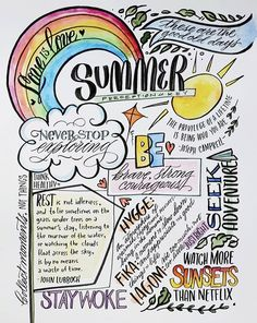 by Melissa Esplin: Jane Rhodes Summer Visual Journal/Vision board project Hand Lettering Practice, Brush Lettering, Watercolor Lettering, Watercolor Painting, Vision Journal Ideas, Joseph Campbell Quotes, Summer Journal, Personal Values, Family Values