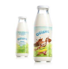 Milk label «Obydnye» on Behance