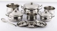Mahavir Stainless Steel Silver Touch Cook N Serve Set Cookware Set