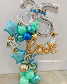 Fruit Bouquet Birthday Center Pieces 41 New Ideas Balloon Display, Balloon Gift, Balloons And More, Number Balloons, Balloon Arrangements, Balloon Centerpieces, Balloon Flowers, Balloon Bouquet, Birthday Balloon Decorations