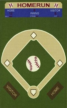 RugStudio presents Dalyn All Stars AL52 Baseball Field Green Machine Woven, Good Quality Area Rug