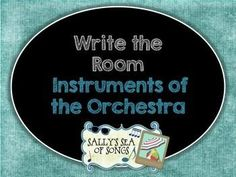 A set 20 orchestral instruments and their name labels, formatted in various ways to allow for a variety of options! Use small cards in a center or large cards for display when every student has a clipboard and recording sheet. Twelve different recording sheets are included.  Some recording sheets are provided without directions to allow you to create your own variations of this activity.