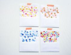 Easy stamped envelope liners!