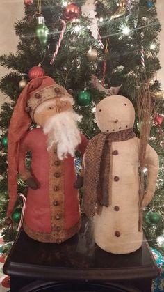 ePattern~Primitive Santa Stump Doll PDF File, Digital Download