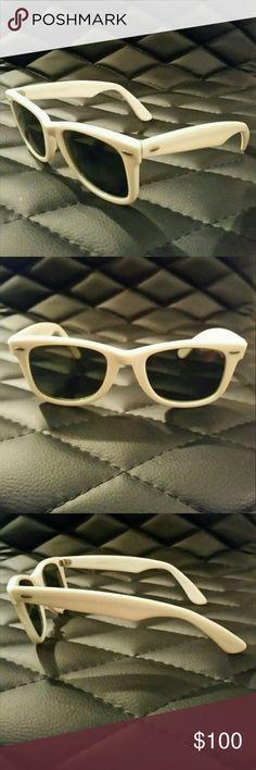 5ea255732f1 Vintage Ray-Ban BL USA Wayfarer I 5022 Ray-Ban Wayfarer I White Mirrored  5022 Bausch Lomb