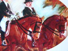 HorseDressage Equestrian Art Digital print by TigerLilyArtCompany, $12.00