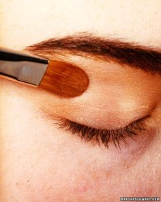 "For a very defined line, use a felt-tipped liquid liner or a waterproof eyeliner pencil; then to set it, trace the line with a thin brush dipped in a matching eye shadow powder. ""For a softer line, apply regular kohl eyeliner before your base neutral eye shadow,"" says Harris. ""The shadow will smudge it out a bit for a diffused look."""