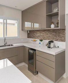 Ideas Kitchen Tiles Beige Cabinets For 2019 Kitchen Room Design, Kitchen Cabinet Design, Home Decor Kitchen, Interior Design Kitchen, Home Kitchens, Kitchen Furniture, Kitchen Ideas, Kitchen Modular, Modern Kitchen Cabinets