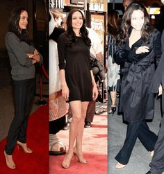 Angelina showing the plebes how to do open toe nude heels